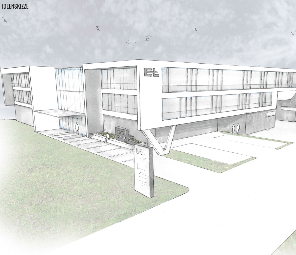 Wettbewerb Betriebsgebäude ERHARDT + LEIMER